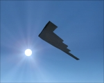 B-2 Spirit heading for the sun
