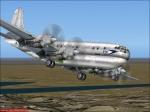 Boeing Stratocruiser preparing for landing