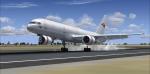 Boeing 757 200 cargo Landing at Sacramento