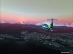 Cessna with caramel sky
