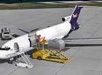 727-200 KBOS - off loading