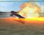 Cessna on fire