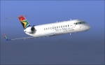 South African CRJ in flight