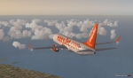 Easyjet 737 into view