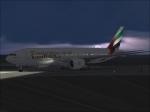 Emirates 777 departing Dubai Intl.