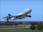 Aerolinas Argentinas 747 departing from SAEZ