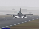 Landing on a foggy morning