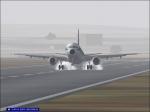 Landing on a foggy morning
