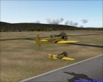 Two North Americans formation flight using flight recorder