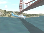 Flying under bridge