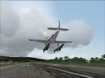 An old airplane is in final landing at TNCM