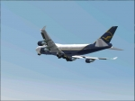 Lufthansa Boeing 747 jumbojet is climbing now