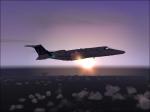 Lear jet flying high