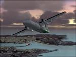 Dash8 over Lampedusa