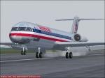 Fokker 100 - touchdown