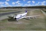 747 on grass