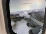 Lufthansa 747-430 Combi climbing to cruise altitude