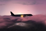 777 Caught in storm