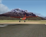 Brietling Aircraft touching down