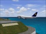Lufthansa 747 Landing at Madeira Airport