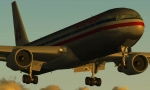 AA 767 in sunset