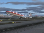 Md-83 taking off from Dallas Fort Worth Intl