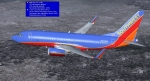 Southwest Airlines 737 turning