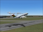 vc10 from ghana airways take-off.