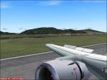 touchdown on runway 4