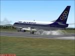 Olympic 737 landing in Greece