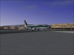 Alitalia taxiing on ground