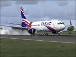 First landing Fly Uk 737-800