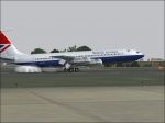 Boeing 707 landing