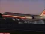 American Airlines Fokker 100 landing