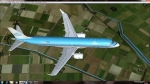 Embraer 190 KLM over the Netherlands