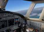Cessna Citation X on standard GZO3C departure from Malta