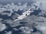 Cessna Citation X en-route to Genova from Malta