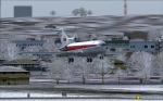 TWA 727-31 short final rwy 1 KMKC