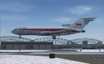 TWA 727-31 over the numbers