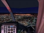 Rome by night in helicopter