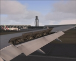 Wingview on landing