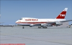 TWA 747 SP Boston Express on Taxiway