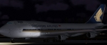 Singapore 747 at night