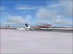 fokker 100 landing on chicago.