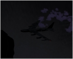 B-52 dark in the night