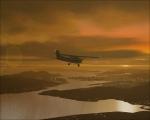 Cessna above Hong Kong at dusk