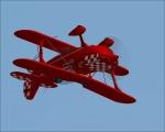Acrobatik flying upside-down