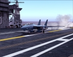 F-14 landing