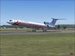 tu154B2 Ural landing in Milan