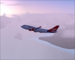 Virgin through clouds